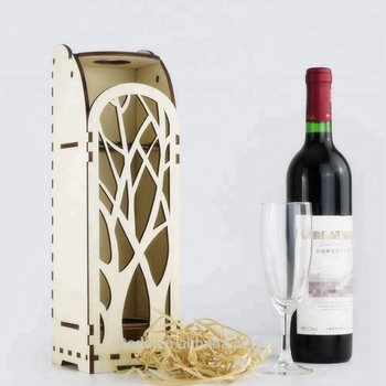 SLTJ002 Natural Color wooden red wine box