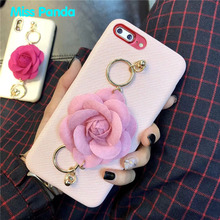 Luxury 3D rose flower mobile phone case with wristband for iophone <strong>x</strong>/<strong>10</strong> pu leather back cover for iphone 6 6s plus 7 7plus