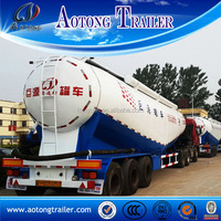 Hot selling 50cbm dry bulk cement powder truck / cement tank trailer for sale
