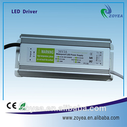 Hot selling 3.6A 30-36V 100W IP65 waterproof constant current LED driver