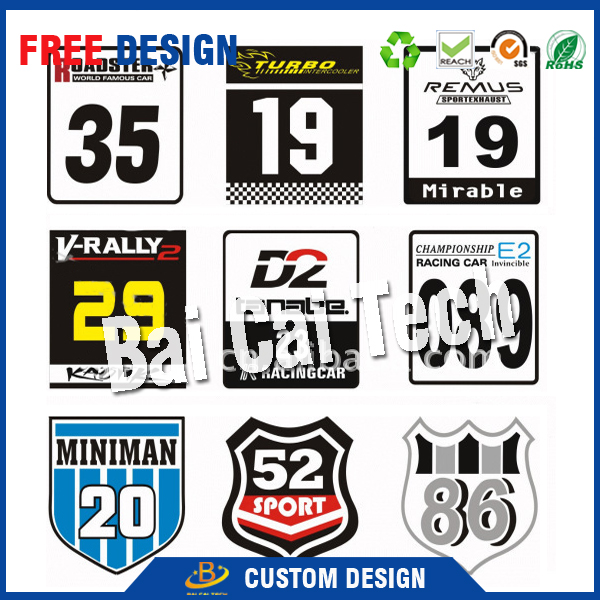 China custom car body sticker, car sticker with your own design