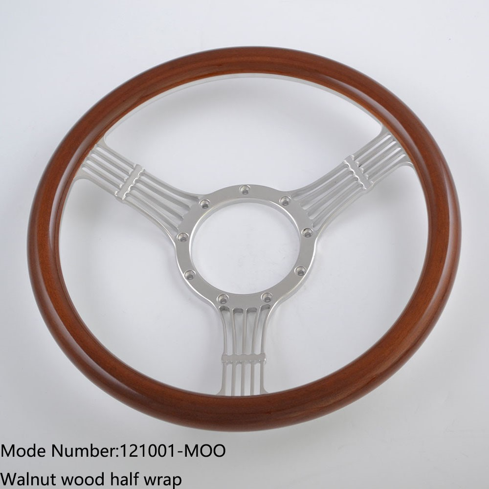 14 inch Billet Wood Sports Steering Wheel for Ford