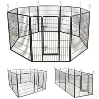 Portable dog playpen folding rabbit cat pet fence plastic play pen enclosure house