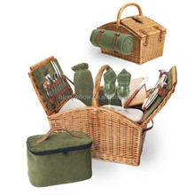new large honey cooler wicker wholesale picnic basket