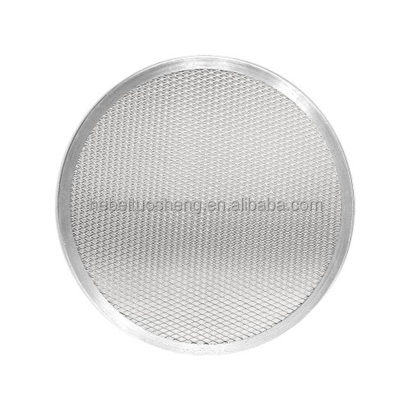 Aluminum And Stainless Steel Round Expanded Screen Pizza Mesh Pan