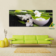 Digital printed still life bamboo white orchid canvas Oil painting canvas prints print oil painting for bedroom unframed