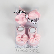 High Quality Fashion Baby Hair Bows and Sandals For Babies