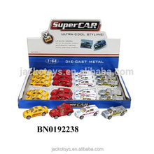 1:64 scale 4 car model mixed diecast metal car toys