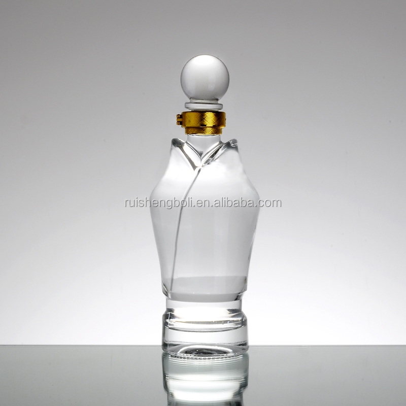 Top quality frosted wine bottle decorate wedding glass stopper for sale