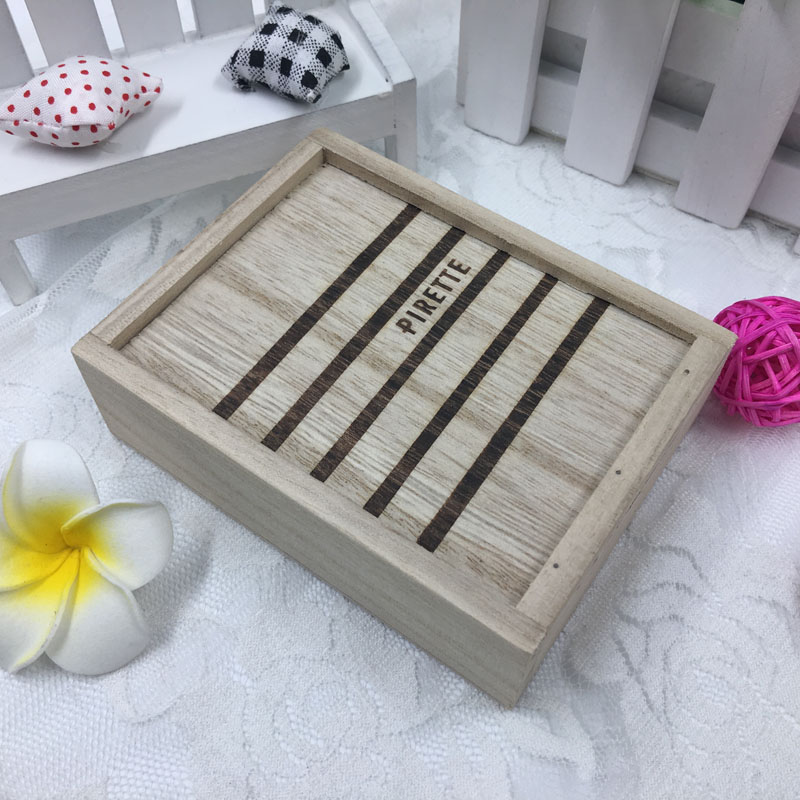 Samll unfinished wooden wood boxes wholesale with sliding lid