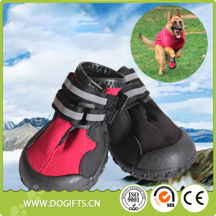 Multifunctional pet dog rain boots booties for wholesales waterproof dog shoes with rubber sole