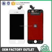 Skillful manufacture lcd complete assembly for iphone 5, for iphone 5 lcd complete paypal accepted