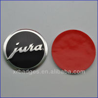 Embossed Metal Logo plate with four fake balls with prong snap for bags