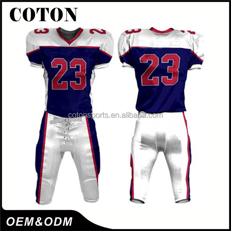 Hot sell Printed youth team Dye Sublimated american football jersey on alibaba top manufacturer