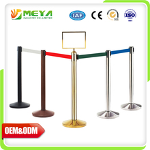 Park Safety Rubber Retractable Came Queue Rope Expandable Crowd Barrier
