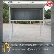 Cosmetic outdoor car parking garage storage cabinet