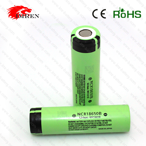 2016 Hot Sale High Quality NCR18650B Rechargeable li-ion Battery 3400mah 3.7v In Stock