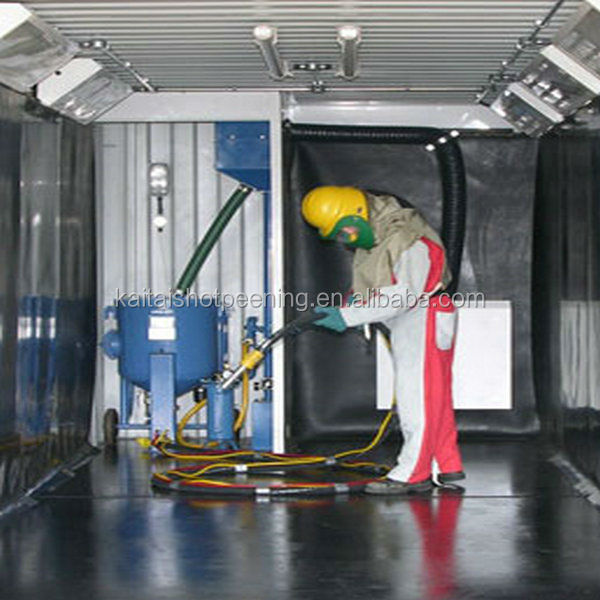 sand blasting room for manual cleaning sand Blasting room/surface derust
