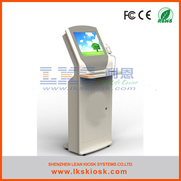 "self-service information dvd kiosk with 15"" touch screen"
