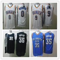 Oklahoma City 35 Kevin Durant White Blue Jersey,Seattle Sonics 35 Kevin Durant White black basketball jersey
