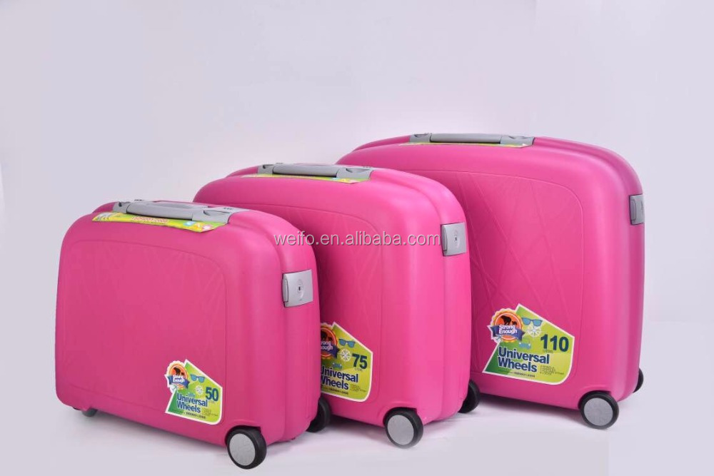 girls pink PP travel suitcase and bags