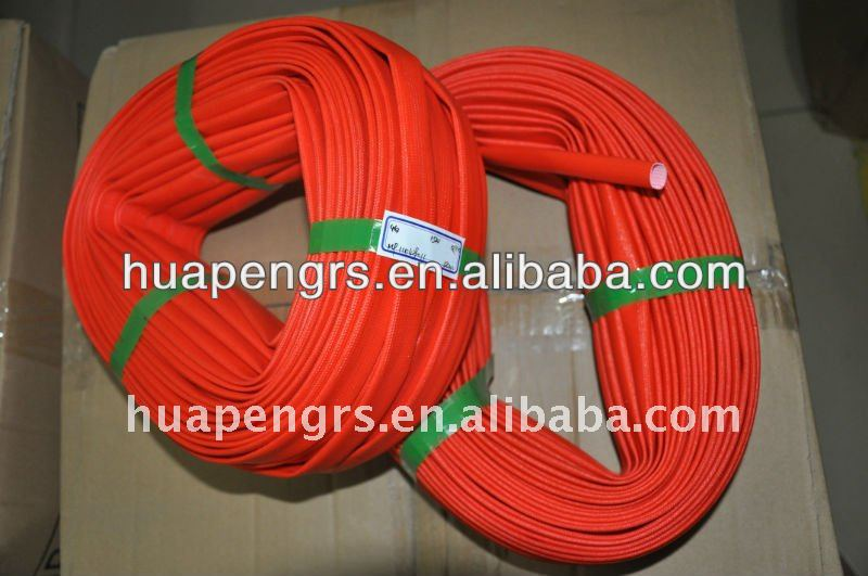 Silicone coated fiber glass sleeving for electrical wire insulation sleeve