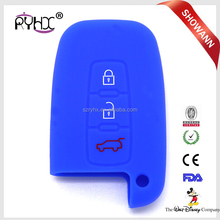 Remote Flip Folding Car Key Cover for Hyundai Volkswagen Silicone Car Key Case with logo