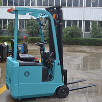 Noelift brand 24V strong battery operated 2200lb capacity forklift truck / three wheel drive electric fork truck price