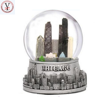 Factory Custom made best home decoration gift polyresin resin golden snow ball