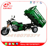 Three Wheels Motorcycle Gas Tricycle 150cc Cargo Motor Cycle 1.2m * 1.8m Van Cargo Tricycle