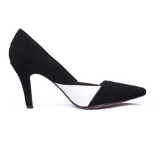 Classic style kid suede 12cm customizable pointe toe high heel women shoes