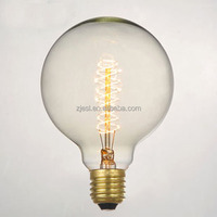 2016 best selling G125 25W E26 spiral carbon edison filament lamp