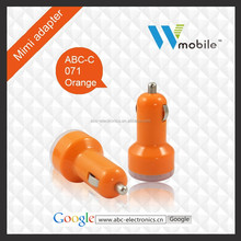 Mobile Phone Use and 2 port usb car charger,Electric Type 2 usb car charger