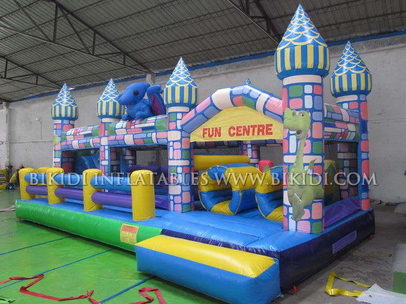Inflatable combo games, inflatable cascle combo, kids inflatable obstacle course B5017