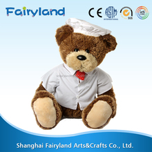 2016 Top selling products Chef Hat Bear plush toy shipping from china