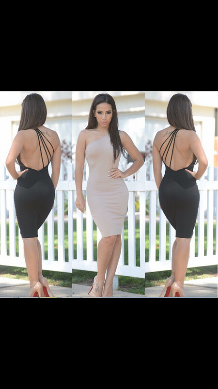 Wholesale fashion One shoulder elegant bandage dress bq new design cheap knee length sexy revealing evening dresses