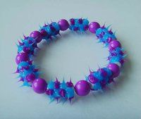 body jewelry blue and purple color silicone bracelet piercing