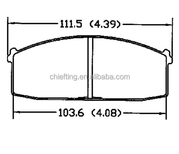 EXCELLENT PERFORMANCE D186 brake pads for nissan tiida