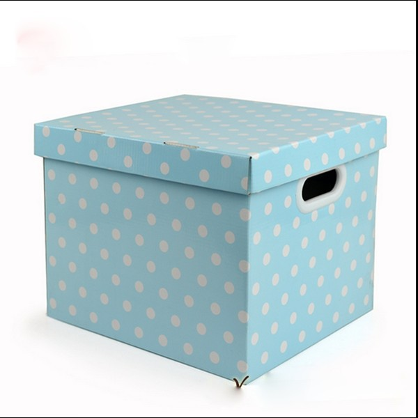 Custom design large storage paper box eco-friendly decorative paper cardboard socks storage box wholesale