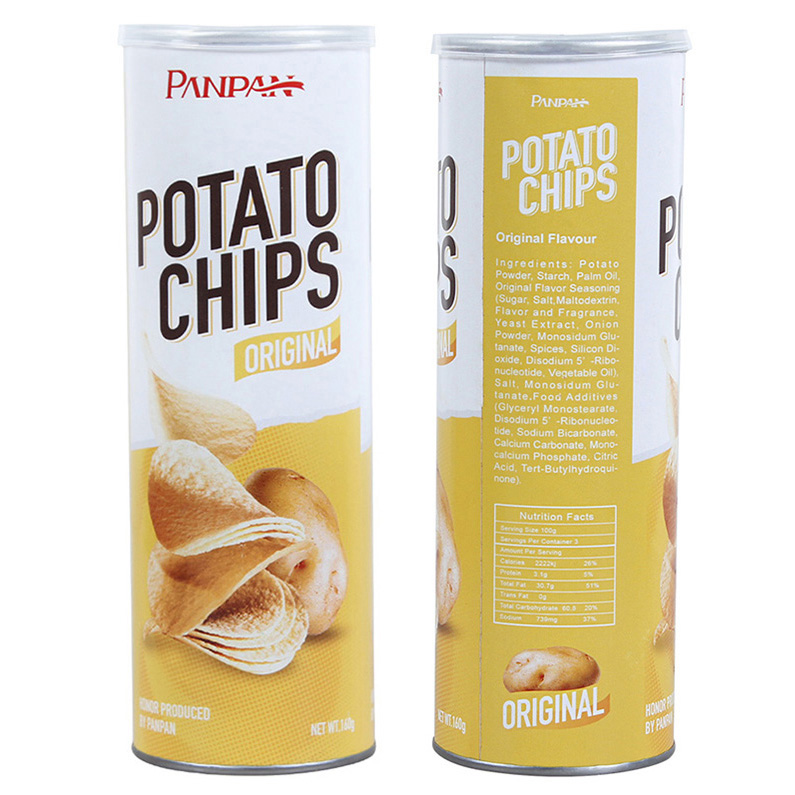 Panpan canned vegan food potato chip