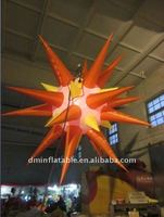 2011 thanksgiving day decoration inflatable star with led light