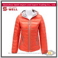 wholesale custom fashion winter women down jacket