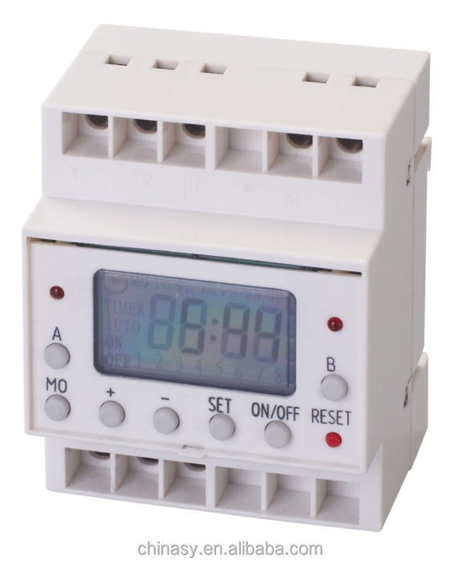 Digital Industrial Timer with 230V AC Voltage, 20 On/Off Programs and 7 Buttons for Easy Operation
