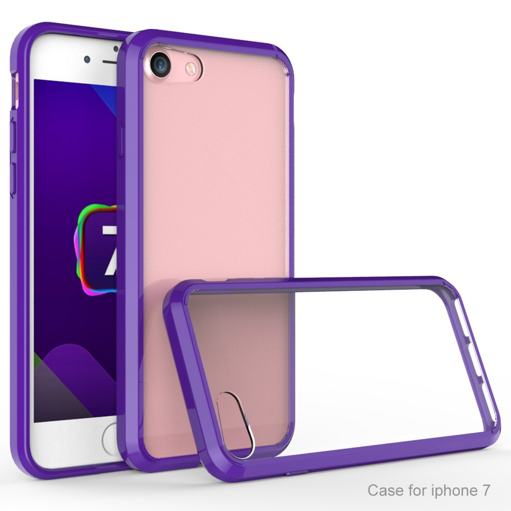 Ultra thin transparent phone accessories TPU PC case for iphone 7