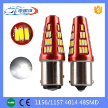 1156 Ba15s p21w 48 SMD 4014 LED Car Tail Light Turn Signal Reverse Lights DC12-24v White New