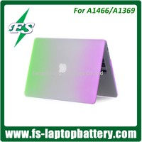 "Rainbow matte hard case cover for Macbook Air/Pro Retina 11"" 13"" 15"" green & purple hard protective case cover for Macbook"