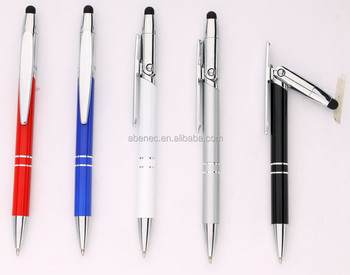 2017 most popular new design metal refill pen with phone holder for business gift