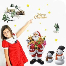 Newest waterproof fancy wall sticker for christmas decoration