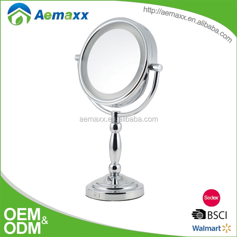 Adorable fashion 7 inch battery led light bathroom gleam magnifying mirror