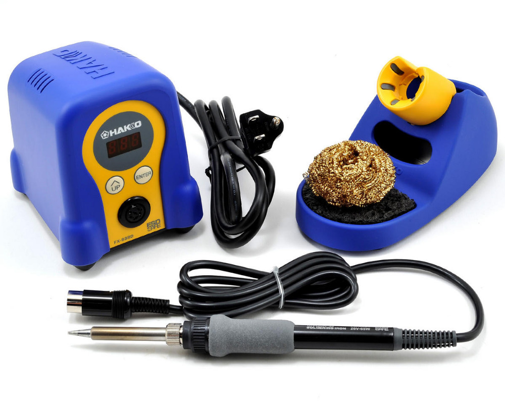 digital HAKKO Fx-888D soldering station with Electric Soldering Iron,
